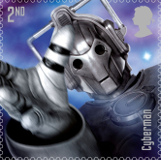 Cyberman Postage Stamp, Dr WHO 50th Anniversary celebration